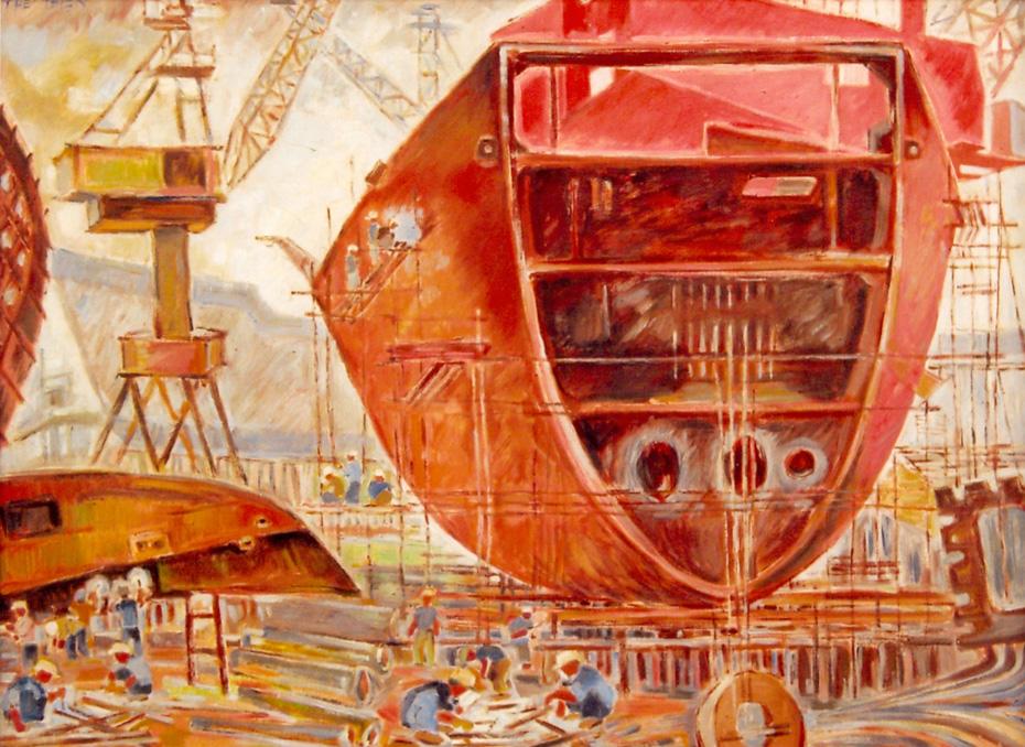 Kích thước: 85x 98cm. Chất liệu: sơn dầu. Năm sáng tác: 2009