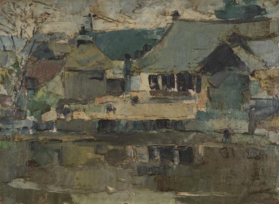 Kích thước: 26x34cm. Chất liệu: sơn dầu. Năm sáng tác: 1970
